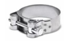Picture of 56-59mm Single bolt clamp, cage and band in Chromium plated Steel AISI 430 with bolt in Bichromated Galvanised Steel