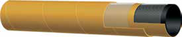 """Picture of 1/2"""" (13mm) ID X 21mm OD Compressed air – heavy duty Yellow Rubber 20bar WP -30°C +80°C (Mandrel) (20m coil) 155AK"""