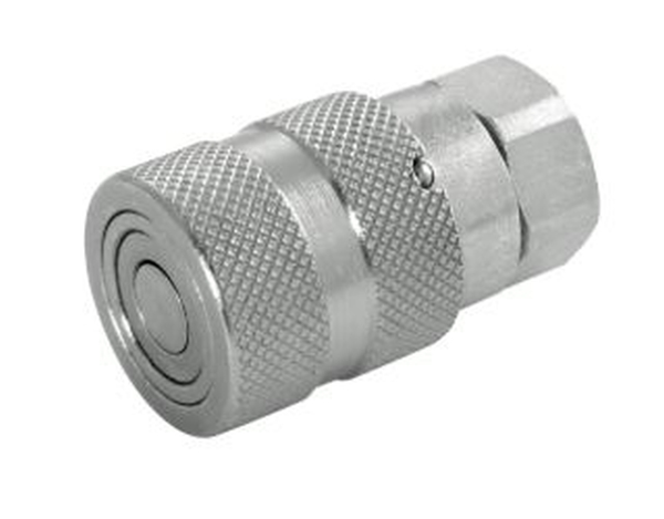 """Picture of 3/4""""  BSPP Flat Face ISO Profile - Couplings, Steel Nitrile,"""