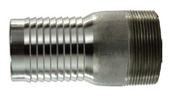 """Picture of 2"""" BSPM Plated Steel KC Nipple - Hose Tail"""